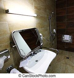 bath room - inside luxury modern bath room