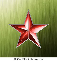 Festive background with red star. EPS 8