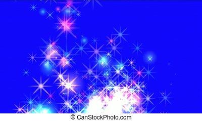 flare stars,fireworks,dazzling stars,falling...