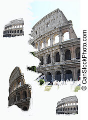 Rome. Colosseum - Rome. Colosseum. Composition with...