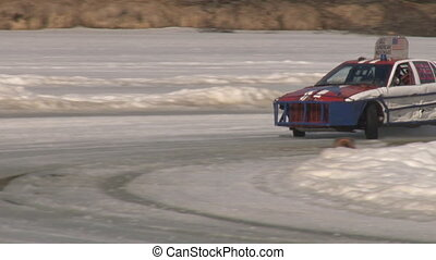 Ice road racers stock car 2 of 3 - Modified stock car race...