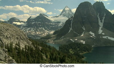 Mount Assiniboine and Lakes time lapse in the Canadian...