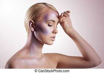 shining and powder make up