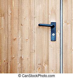 doorhandle -  doorhandle on the door close up