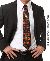Business Man with Themed Tie