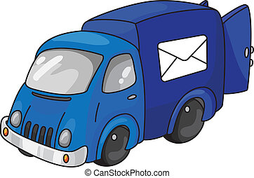 mail car - An illustration of a mail car