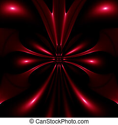 red design - original abstract red design on a black...