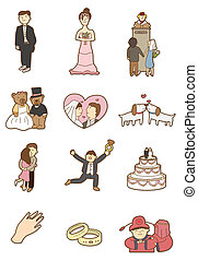 cartoon wedding icon