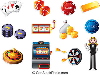 cartoon casino icon  - cartoon casino icon
