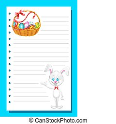 Eater card with Bunny and Eggs