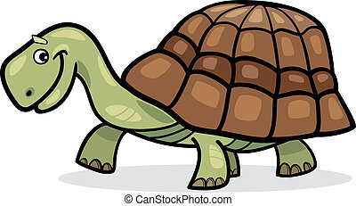 Turtle - Illustration of funny cartoon turtle