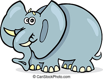African elephant - Illustration of funny african elephant