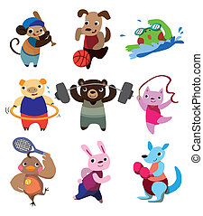 cartoon animal sport