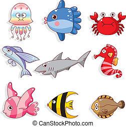 cartoon fish icon  - cartoon fish icon