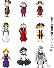 cartoon medieval people  - cartoon medieval people