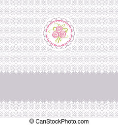 Cute greeting card with roses element design for easter o