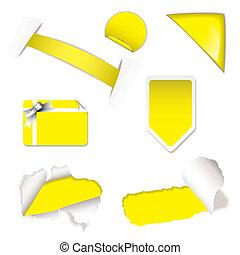 Shop sale elements yellow