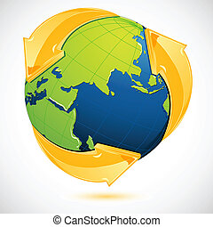 Recycle Symbol Around Earth