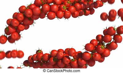 Two Tomatoe Cherry flows slowmo - Two Tomatoe Cherry flows...