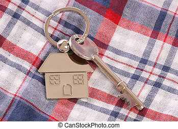 First house keys and keyring