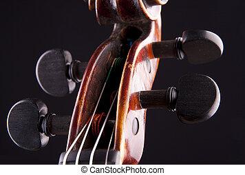 violin string art musical objekt