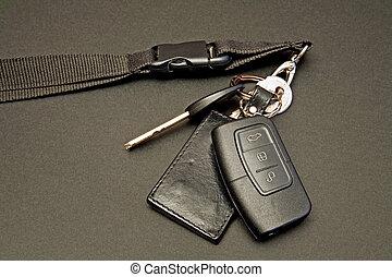 car keys set with remote control