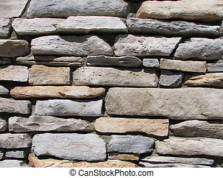 rock wall - sandstone and limestone rock wall
