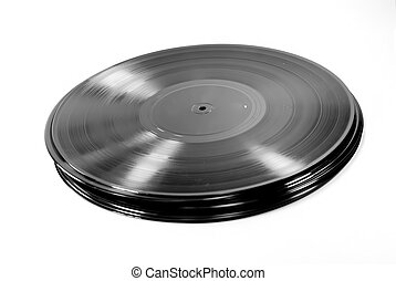 lp record - a stack of lp record