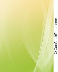 Background illustration green and yellow and white curves