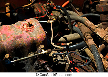 Rusted engine - Old rusted boat engine