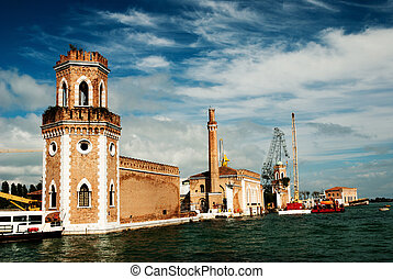 The Arsenale, Venice - A shipyard at Arsenale, Venice, italy