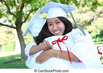 Asian Woman at Graduation