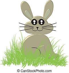3D Cartoon Easter Bunny