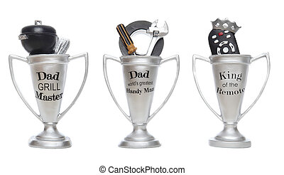 Fathers Day Trophies - Three fathers day award trophies...