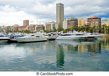 Harbour in Alicante - Marina and yachts in Alicante, Spain