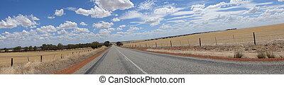 Unreal road landscape in Western Australia, Australia