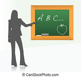 Female school teacher illustration