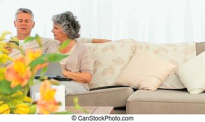 Couple buying something on the net