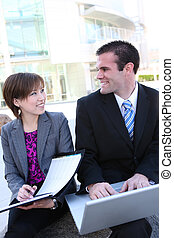 Attractive Business Team at Office - An attractive, diverse...