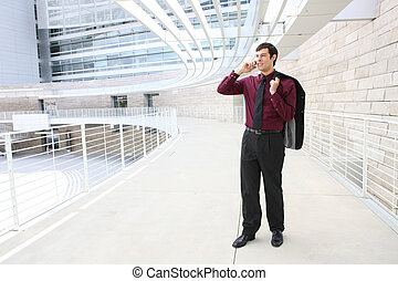 Handsome Business Man on Phone - A young, handsome business...