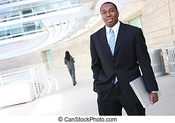 Handsome African Business Man - A handsome african american...