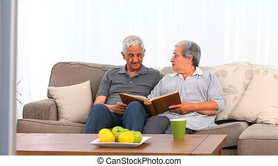 Couple with their photo album