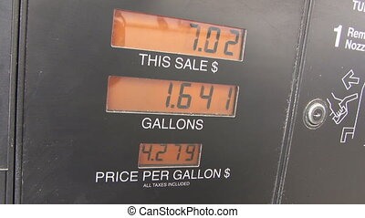 Rising Fuel Prices - Close-up of the increasingly disturbing...