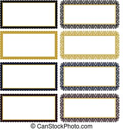 Vector Filigree Frame Set - Set of ornate vector frames....
