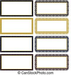 Vector Filigree Frame Set - Set of ornate vector frames....