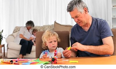 Childrens having differents activities with their...