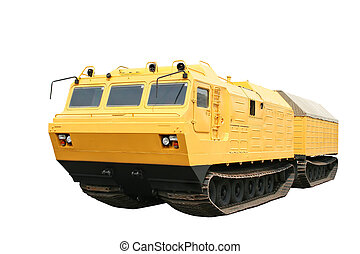 All-terrain vehicle - An yellow all-terrain vehicle