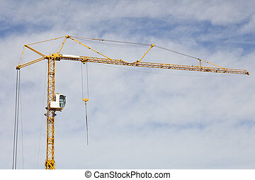 Construction Crane on cloudscaped sky
