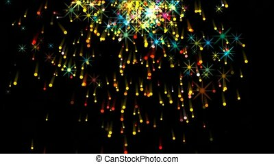 shine stars,fireworks,falling particle,festival and wedding...