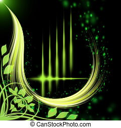 Padrão, abstratos, verde